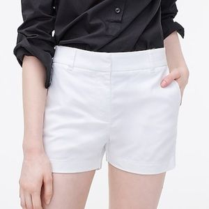 "J Crew 12 4"" stretch chino short White"